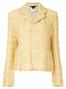 Comme Des Garçons Pre-Owned textured buttoned jacket - Yellow