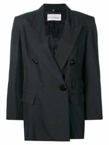 Gianfranco Ferre Vintage 1980's peaked lapels blazer - Black