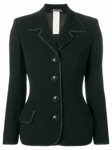 Versace Pre-Owned 1990's bowling collar blazer - Black