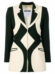 Moschino Pre-Owned 1990's graphic pattern blazer - Black