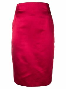 VERSACE PRE-OWNED 1990's fitted pencil skirt - Red