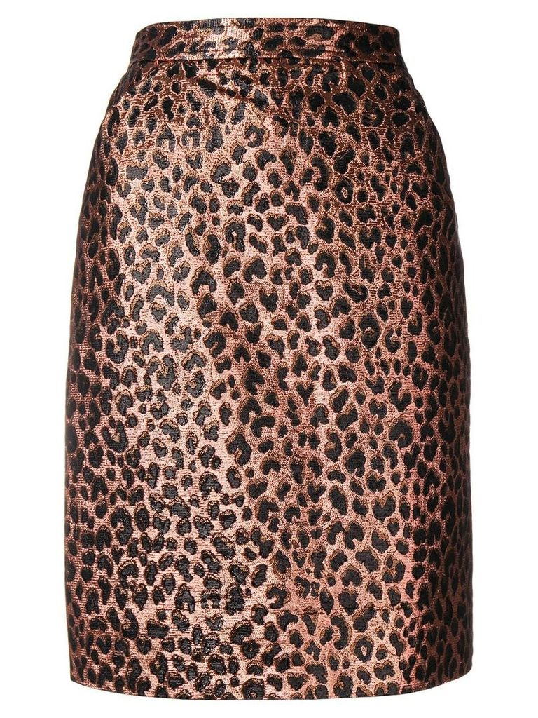 Yves Saint Laurent Vintage 1980's animalier skirt - Gold