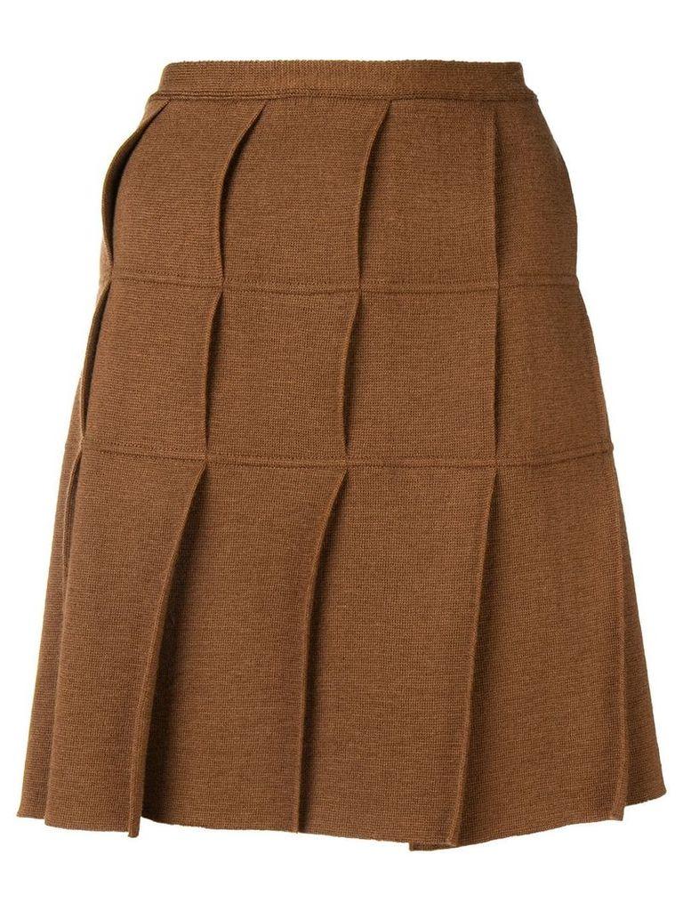 Jean Paul Gaultier Vintage 1990's pleated kilt skirt - Brown