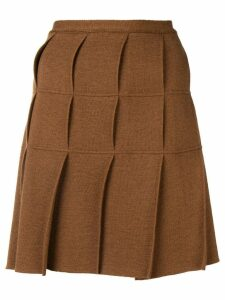 Jean Paul Gaultier Pre-Owned 1990's pleated kilt skirt - Brown