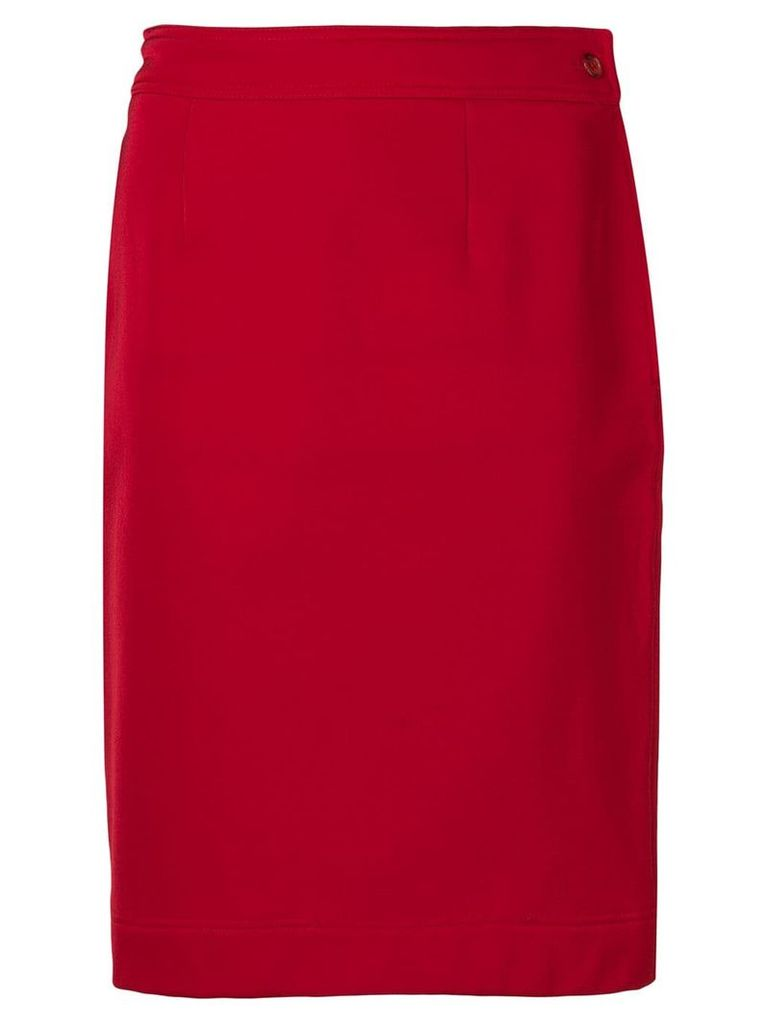 Moschino Vintage 1990's straight skirt - Red