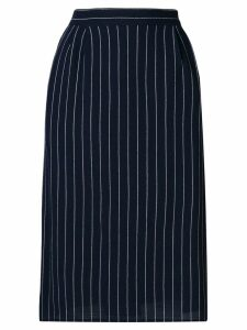 Fendi Pre-Owned 1980's pinstripe tailored skirt - Blue
