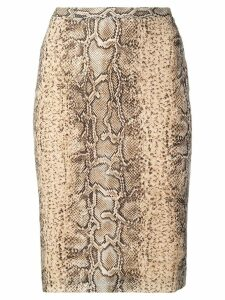 Dolce & Gabbana Pre-Owned snakeskin effect pencil skirt - Neutrals