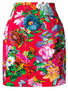 Kenzo Pre-Owned floral print skirt - Red