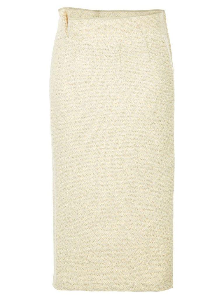 Comme Des Garçons Vintage metallic knitted skirt - Neutrals