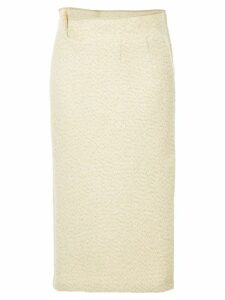 Comme Des Garçons Pre-Owned metallic knitted skirt - Neutrals