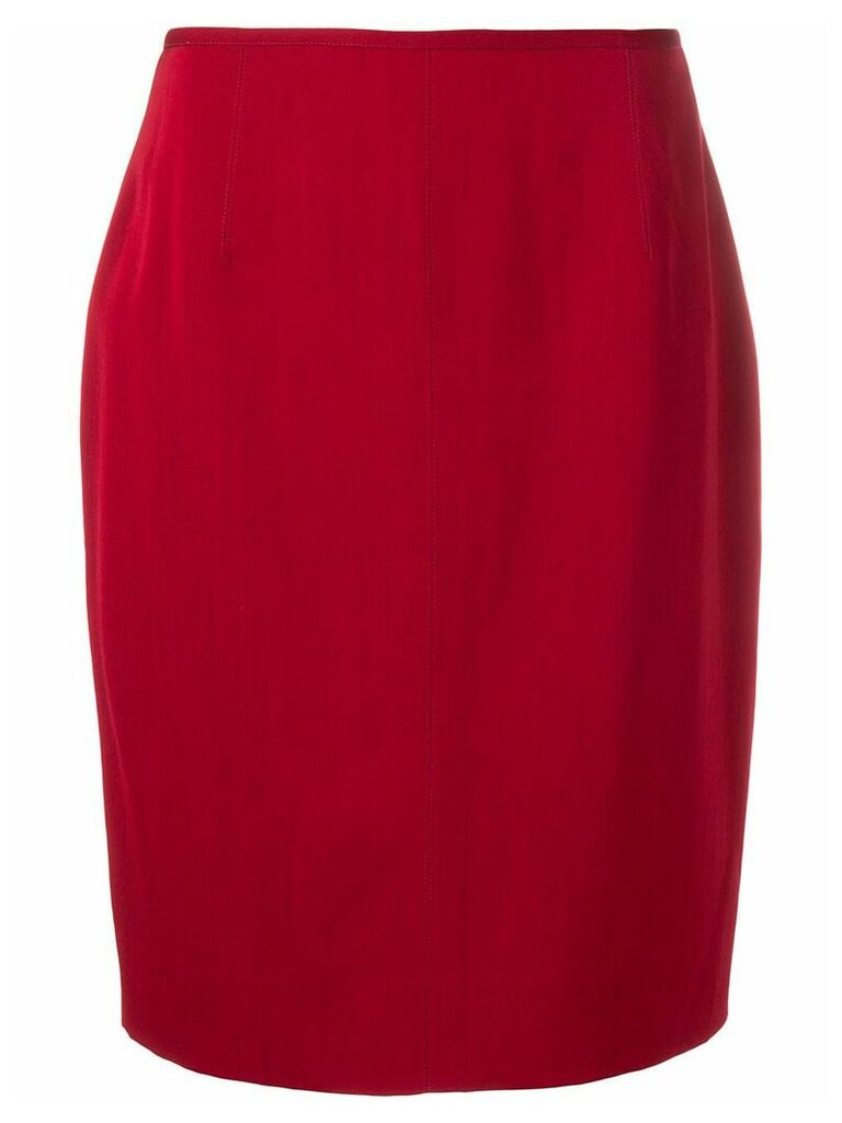 Jean Paul Gaultier Pre-Owned 1980's straight skirt - Red