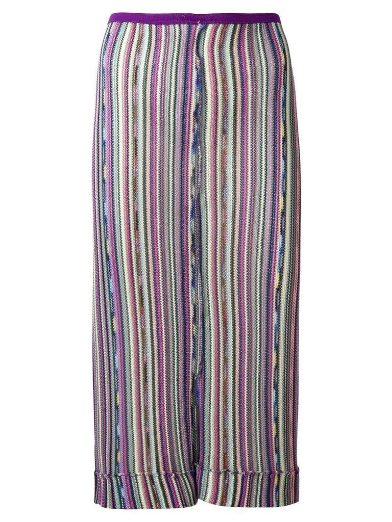 Missoni Pre-Owned stripe knitted skirt - Multicolour