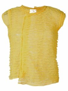 Comme Des Garçons Pre-Owned frilled sleeveless top - Yellow