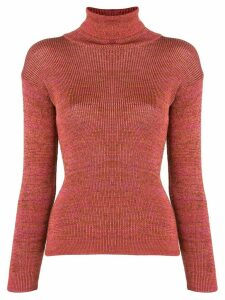 Issey Miyake Pre-Owned 1970's turtleneck jumper - Red