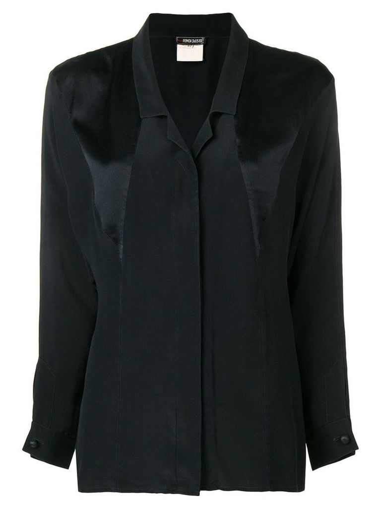 Fendi Vintage panelled shirt - Black