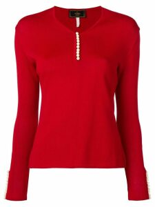 Fendi Pre-Owned white buttoned top - Red