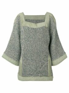 A.N.G.E.L.O. Vintage Cult 1980's armour inspired jumper - Green