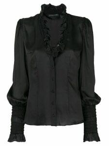 Alexander McQueen Pre-Owned 2000 silk blouse - Black