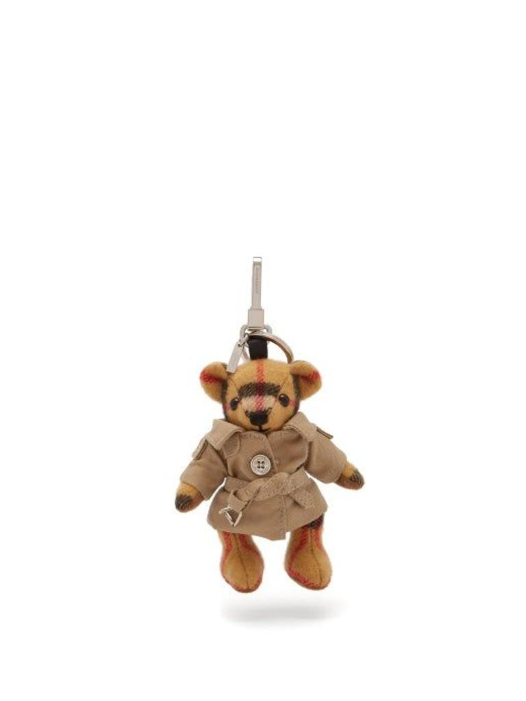 Burberry - Thomas Bear Trenchcoat Cashmere Key Ring - Womens - Brown Multi