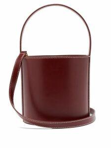 Staud - Bissett Leather Bucket Bag - Womens - Burgundy