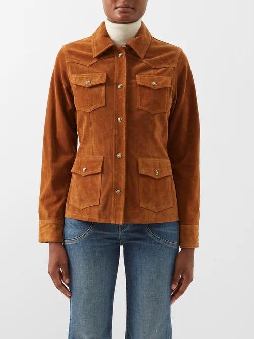 Sophie Hulme - Nano Swing Leather Bucket Bag - Womens - Khaki White