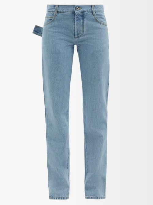 Sophie Hulme - Knot Leather Bucket Bag - Womens - Tan Navy