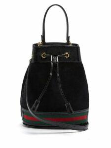 Gucci - Ophidia Suede Bucket Bag - Womens - Black Multi