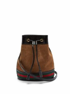 Gucci - Ophidia Suede Bucket Bag - Womens - Tan Multi
