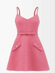 Gucci - Ophidia Web Striped Mini Suede Bucket Bag - Womens - Black Multi