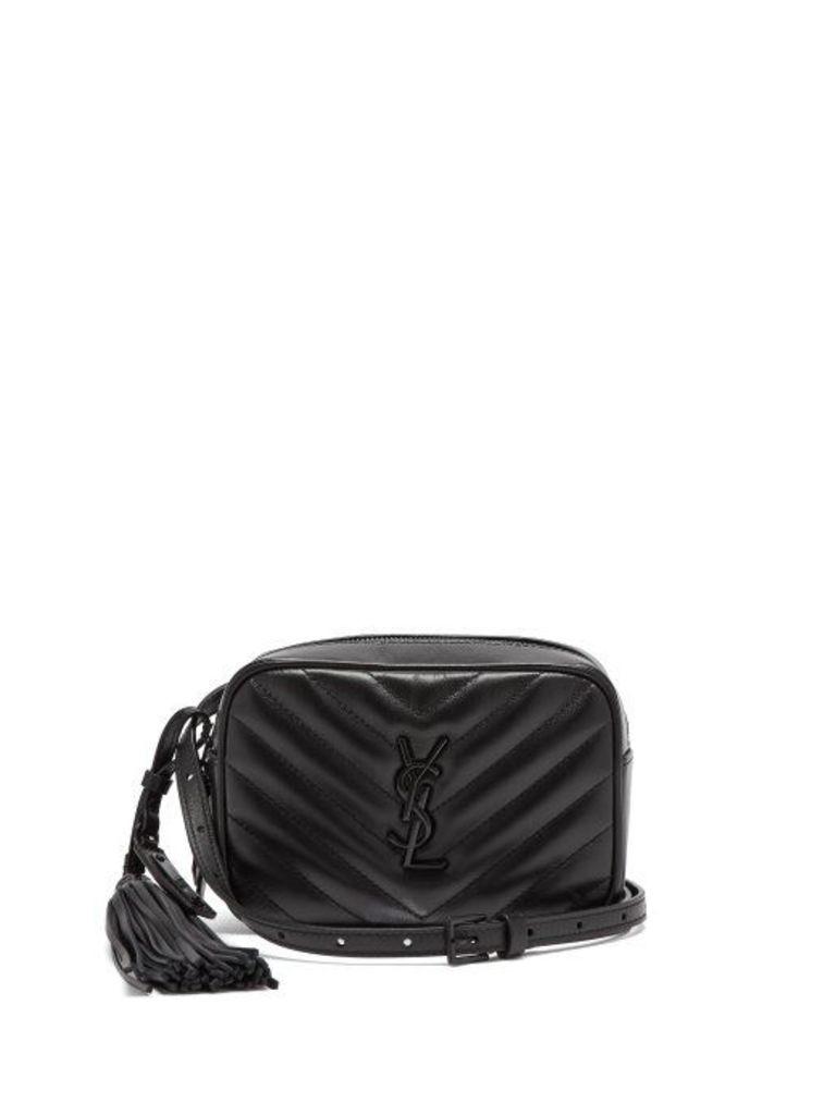 Saint Laurent - Lou Chevron Quilted Leather Belt Bag - Womens - Black