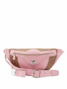 Matty Bovan - Coach X Matty Bovan L Signature Canvas Belt Bag - Womens - Light Pink