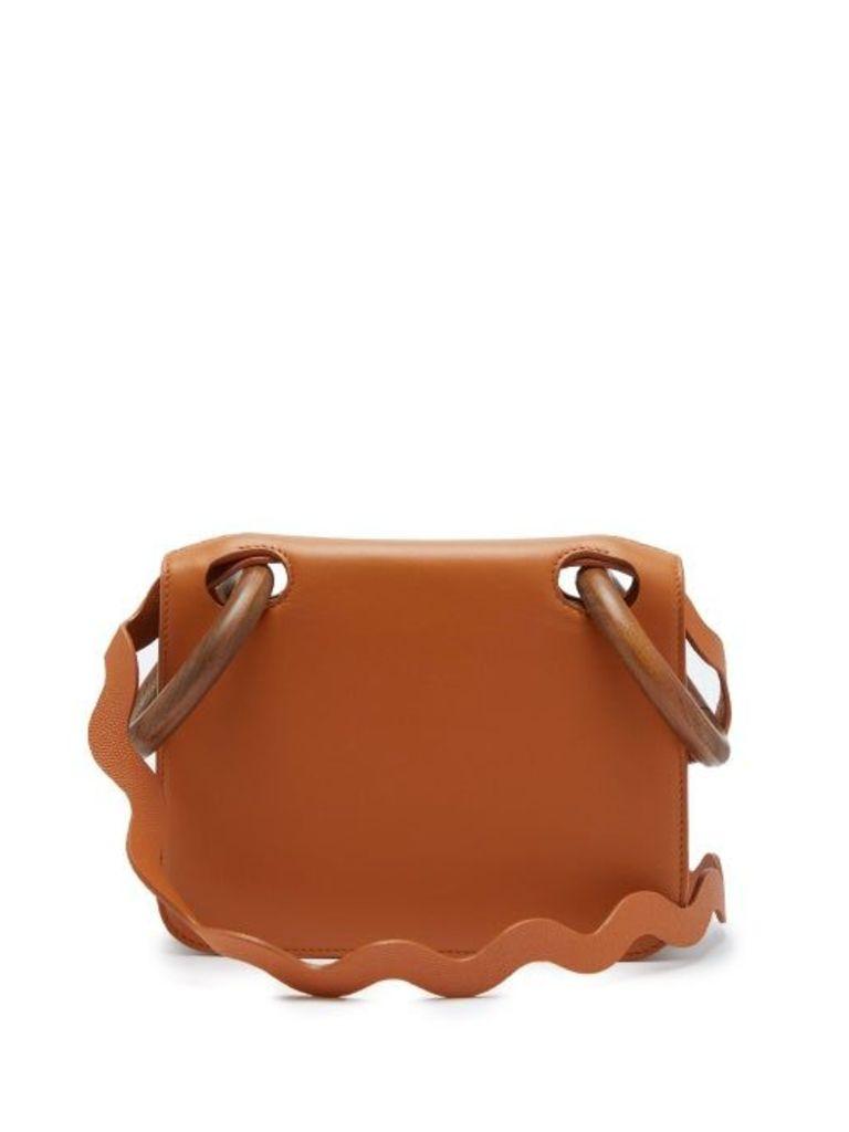 Roksanda - Neneh Wave Strap Leather Cross Body Bag - Womens - Tan