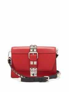 Prada - Elektra Leather Cross Body Bag - Womens - Red