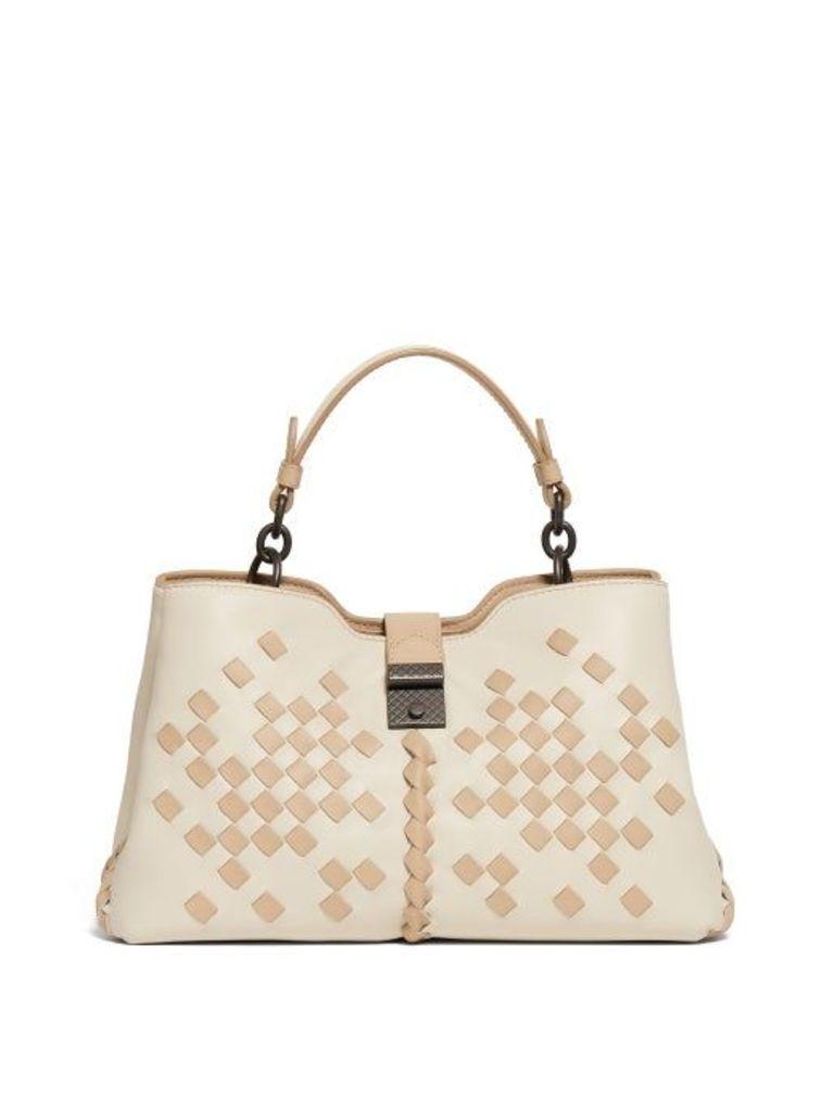 Bottega Veneta - Napoli Small Intrecciato Leather Bag - Womens - Cream Multi