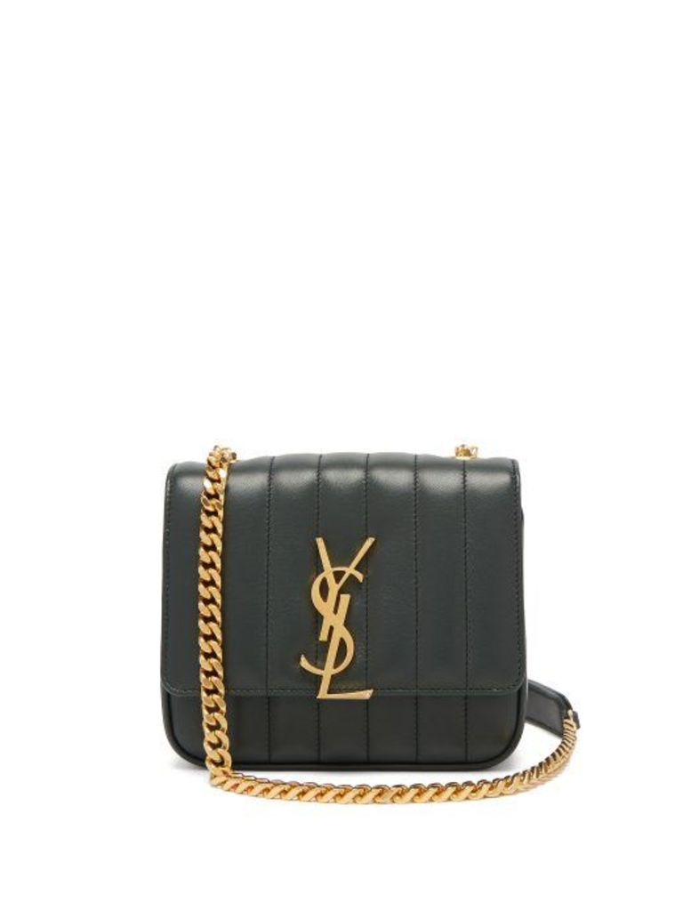 Saint Laurent - Vicky Small Leather Bag - Womens - Dark Green