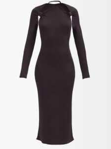 Givenchy - Gv3 Small Suede And Leather Cross Body Bag - Womens - Black Grey