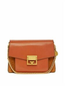 Givenchy - Gv3 Mini Suede And Leather Cross Body Bag - Womens - Tan