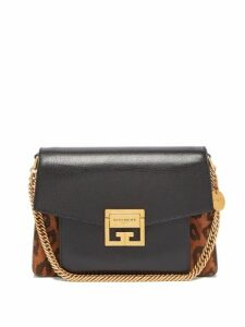 Givenchy - Gv3 Mini Suede And Leather Cross Body Bag - Womens - Leopard