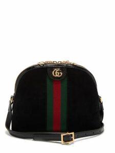 Gucci - Ophidia Gg Suede Cross Body Bag - Womens - Black Multi