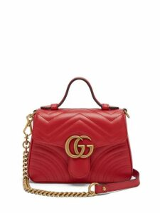 Gucci - Gg Marmont Quilted Leather Cross Body Bag - Womens - Red