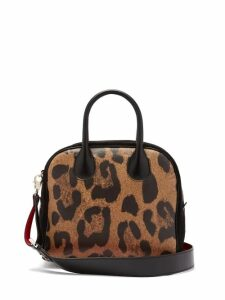 Christian Louboutin - Marie Jane Leopard Print Leather And Suede Bag - Womens - Leopard
