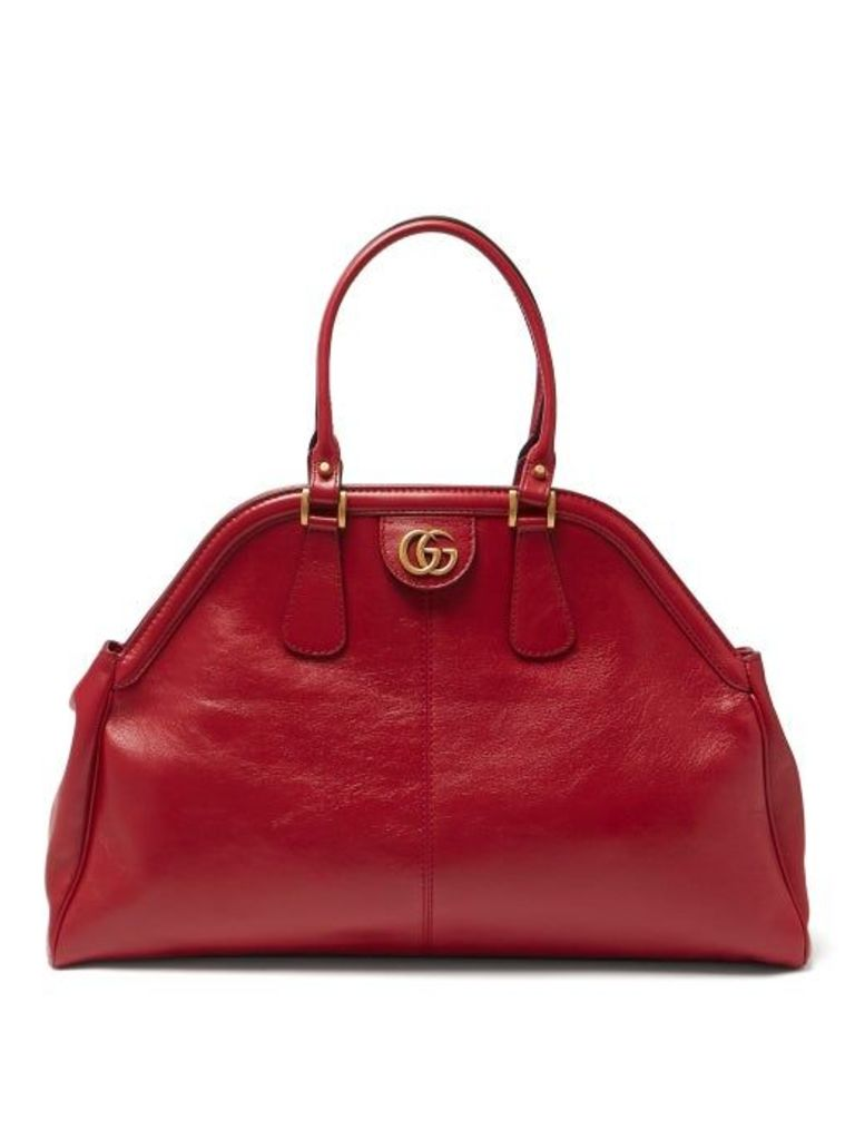 Gucci - Re(belle) Leather Top Handle Handbag - Womens - Red