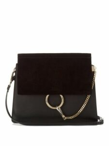 Chloé - Faye Leather And Suede Shoulder Bag - Womens - Black