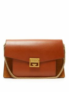 Givenchy - Gv3 Medium Suede And Leather Shoulder Bag - Womens - Tan