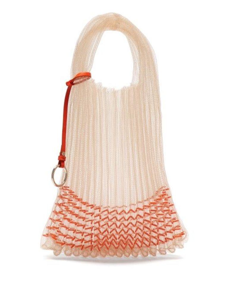 Jil Sander - Beaded Small Market Bag - Womens - Orange