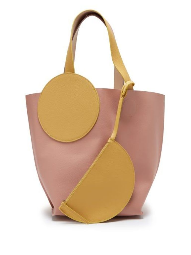 Roksanda - Eider Leather Tote Bag - Womens - Pink Multi