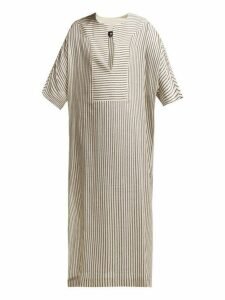 Su Paris - Tia Striped Kaftan - Womens - Grey Stripe