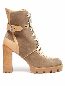 Le Sirenuse, Positano - Jane Postcard Print Cotton Midi Skirt - Womens - Dark Blue