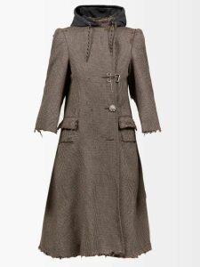 Matteau - The Long Sleeve Split Cotton Dress - Womens - White