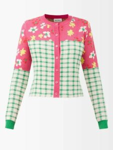 Thierry Colson - Tatiana Floral Embroidered Cotton Dress - Womens - White Navy